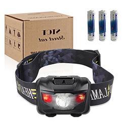 Ultra Bright CREE LED Headlamp Flashlight, 160 Lumen with Re
