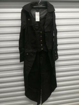 Darcchic Men's Gothic Tailcoat Jacket, Medium, With Brassy B