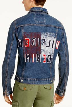 Tommy Hilfiger Men's Denim Jacket Graphic Print Trucker