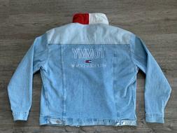Tommy Hilfiger Denim Trucker Jacket Vintage Style NEW WITH T