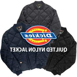 Dickies Diamond Quilted Nylon Jacket Men's Zip Up Fleece Lin