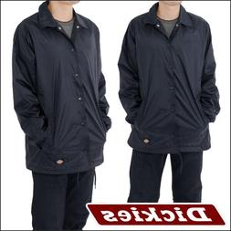 dickies Jacket Snap Front Coaches Jacket Lined Windbreaker S