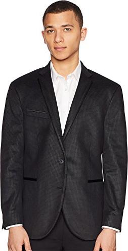 Kenneth Cole REACTION Mens Dot Sport Coat Black/Grey 38S One