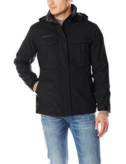 Columbia Men's Dr. Downpour Rain Jacket, Black, Large