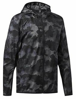adidas DZ2030 Men's Own The Run Hooded Jacket Black Camoufla