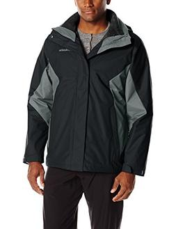 Columbia Men's Eager Air Interchange Jacket, Black/Graphite,