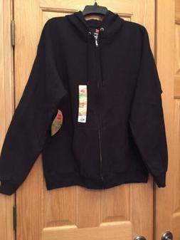 ecosmart mens sweats black zipup hooded sweatshirt