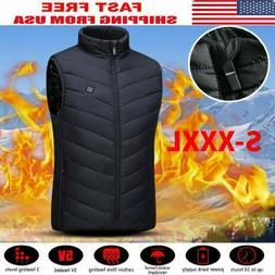 Electric Vest Heated Cloth Jacket USB Warm Up Heating Pad Bo