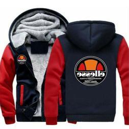 ellesse Coat Men's Hoodie Sweatshirt Zipper Jacket Fleece Li
