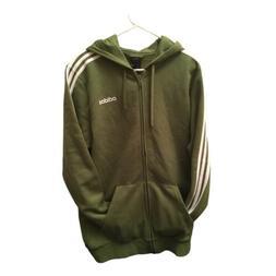Adidas Essential men's 3-stripe Full zip athletic jacket sz