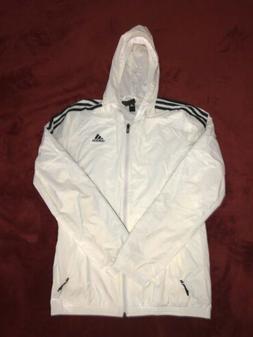 Adidas Essentials 3-Stripes Wind Jacket Men's White black st