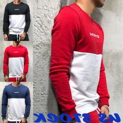 Fashion Men's Autumn Hoodie Warm Hooded Sweatshirt Sweater C