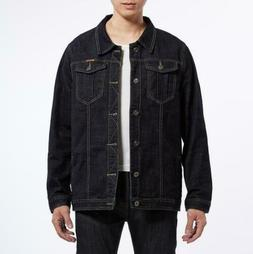 Fashion Men's Casual Jacket Men Cowboy Denim Jeans Coats Siz