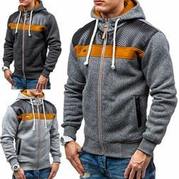 Fashion Men's Winter Hoodie Warm Hooded Sweatshirt Sweater C