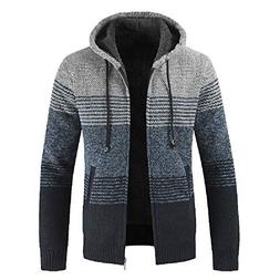 Sunhusing Fashion Men's Zipper Hooded Stand Collar Packwork