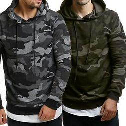 Fashion Mens Camo Military Sweatshirts Tops Hoodie Casual Co