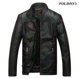 COMLION Faux <font><b>Leather</b></font> <font><b>Jackets</b