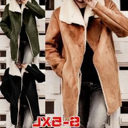 Faux Fur Suede Leather Jacket Mens Autumn Winter Parka Overc