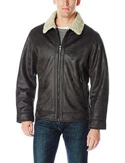 Nautica Men's Faux Sherling Jacket, Dark Brown, XXL