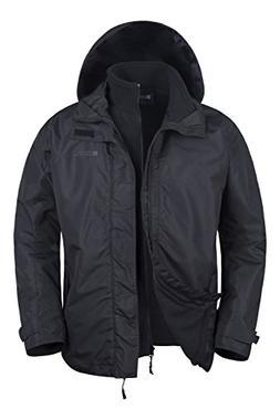 Mountain Warehouse Fell Mens 3 in 1 Jacket -Winter Hooded Co