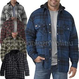 Dickies Flannel Jacket Mens Relaxed Fit Icon Hooded Quilted