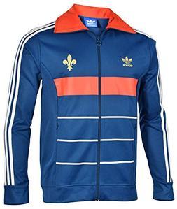 Adidas Originals Men's France Track Top Jacket-TriBlu/Poppy-