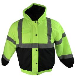 Buffalo Outdoors Full Zip Hi Vis Lined Safety Winter Jacket