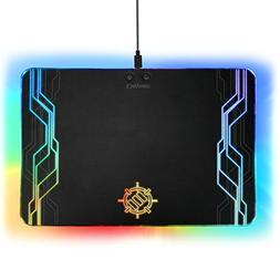 ENHANCE LED Gaming Mouse Pad Hard Large Surface - 7 RGB Ligh