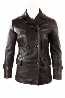German Submariner WW2 Vintage Men's Black Real Leather Jacke