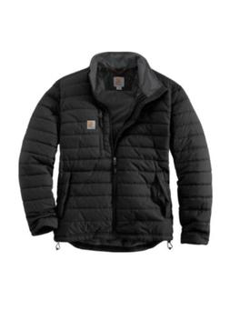 Carhartt Mens Black Gilliam Jacket Insulated Puffer Size Lg.