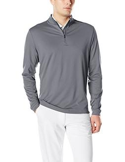 adidas Golf Men's Adi 3-Stripes Classic 1/4 Zip Jacket, Vist