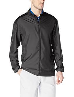 adidas Golf Men's Club Wind Jacket, Black, 3X-Large