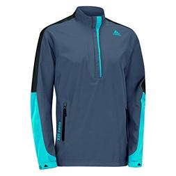 adidas Golf Men's Gore - Tex 2-Layer 1/2 Zip Jacket, Onyx/Bl