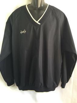 IZOD GOLF Men's Black V-Neck Pullover Windbreaker Jacket C