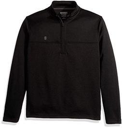 IZOD Men's Golf Water Proof ¼ Zip, Black, Large