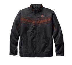 Harley-Davidson Men's Lightweight Mesh Accent Nylon Jacket,