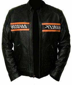 Harley Davidson Men's Real Leather Biker Jacket Best Fit & C