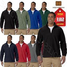 Harriton Jacket Men's 8 oz Full-Zip Fleece Solid BIG SIZES 2