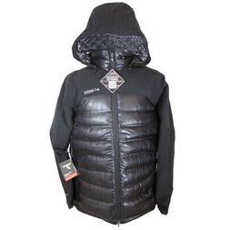 Columbia Mens Heatzone 1000 TurboDown Hooded Jacket, Black,