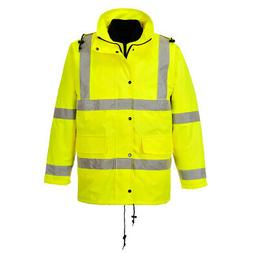 Hi Vis 4-in-1 Rain Jacket High Visibility Reflective Work, P