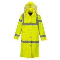 Portwest Hi-Vis Classic Raincoat 48 Inch Safety Waterproof J