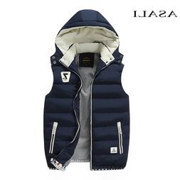 Hooded <font><b>Men</b></font> Winter 2019 Fleece Vest Male