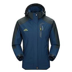 Men Hooded Waterproof Jacket-Diamond Candy Casual Lightweigh
