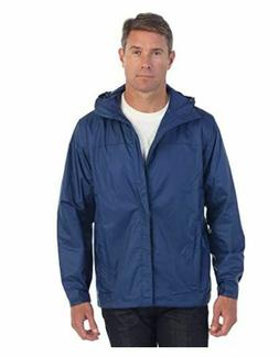 Gioberti Hooded Waterproof Rain Jacket Men's Navy Blue JA9