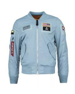 Alpha Industries Flex Light Blue Flight Bomber Jacket Revers