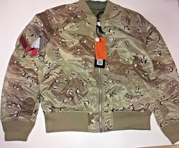 Alpha Industries Men's Bomber Double Camo Reversible Jacket