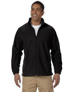 Harriton Jacket Men's 8 oz Full-Zip Fleece Solid M990 Large