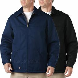 Dickies Jacket Mens Hip Length Twill Jackets Zipper Front Bl