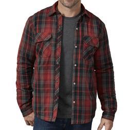 Dickies Jacket Mens Sherpa Lined Plaid Shirt Jacket TJ244