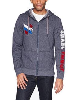 Tommy Hilfiger Men's Hoodie Full Zip up Sweatshirt, Heather